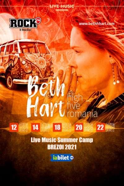 Poster eveniment Beth Hart - High Five România - Summer Camp Brezoi