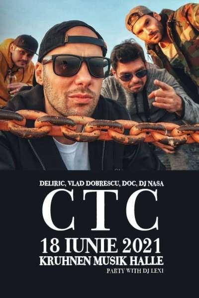 Poster eveniment Deliric, Doc, Vlad Dobrescu, Dj Nasa - CTC