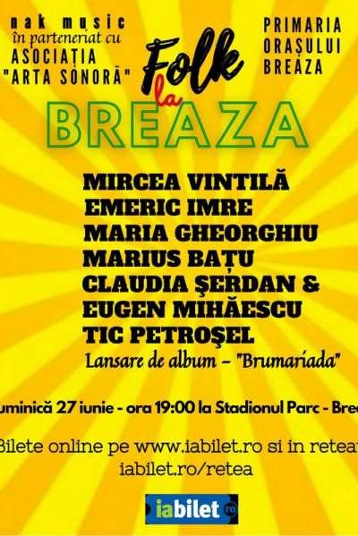 Poster eveniment Folk la Breaza