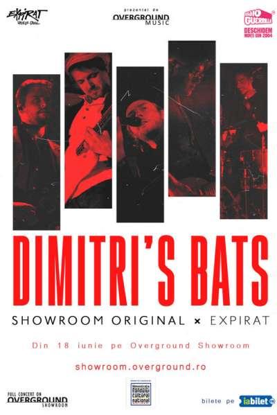 Poster eveniment Overground Showroom - Dimitri's Bats