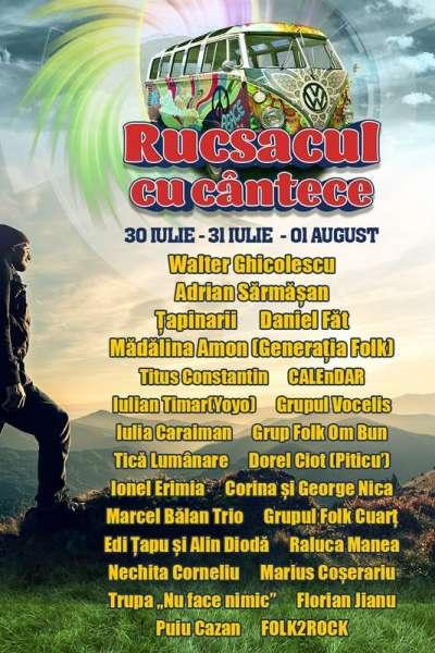 Poster eveniment Rucsacul cu cântece - Summer Camp Brezoi