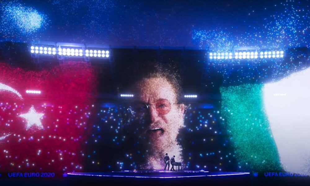 Martin Garrix, Bono & The Edge at EURO 2020 Opening Ceremony - We Are The People