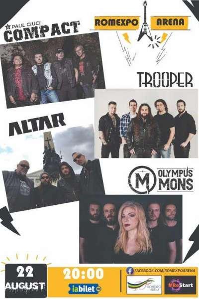 Poster eveniment Compact - Paul Ciuci / Trooper / Altar / Olympus Mons