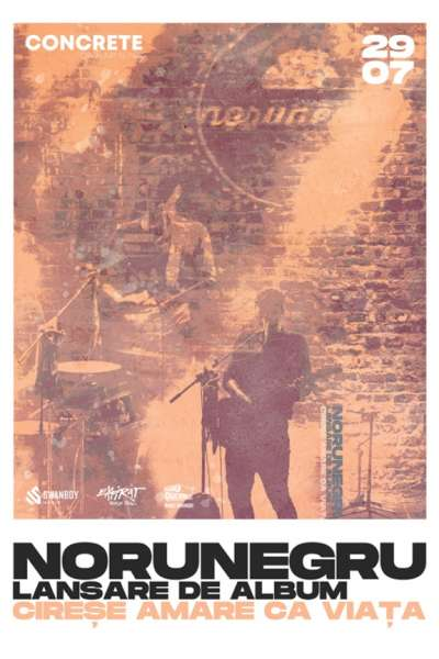 Poster eveniment NoruNegru - lansare album