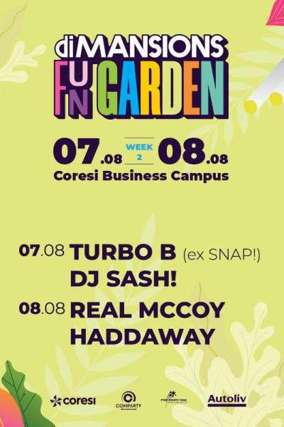 Poster eveniment Real McCoy & Haddaway, Turbo B & DJ SASH!