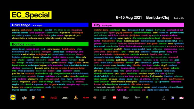Electric Castle Special 2021 - Lineup-ul complet