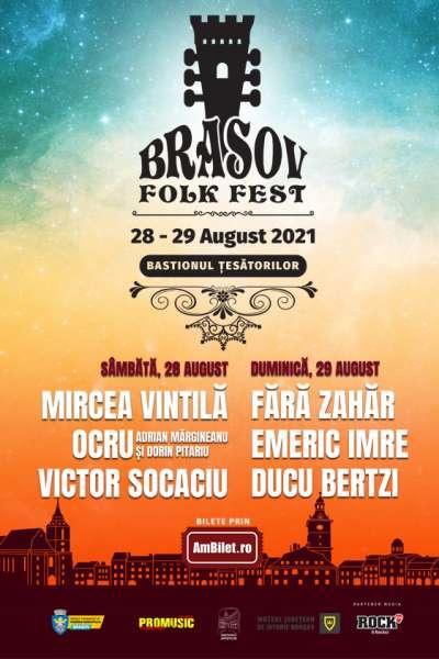 Poster eveniment Brașov Folk Festival 2021