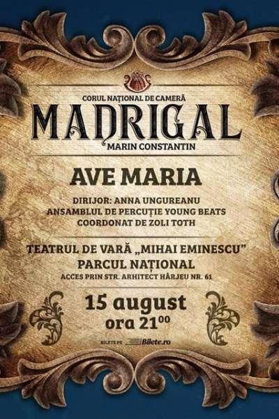 Poster eveniment Corul Madrigal