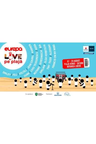Poster eveniment Europa FM Live pe Plajă 2021