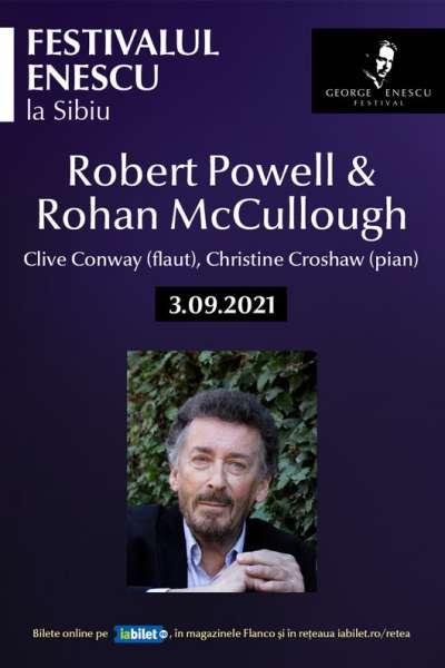 Poster eveniment Robert Powell & Rohan McCullough - Festivalul Enescu
