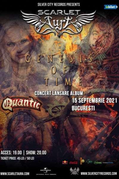 Poster eveniment Scarlet Aura - lansare album