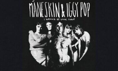 Coperta single Maneskin Iggy Pop I Wanna Be Your Slave