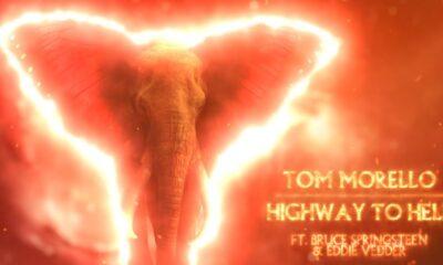 Coperta single Tom Morello Eddie Vedder Bruce Springsteen Highway to Hell