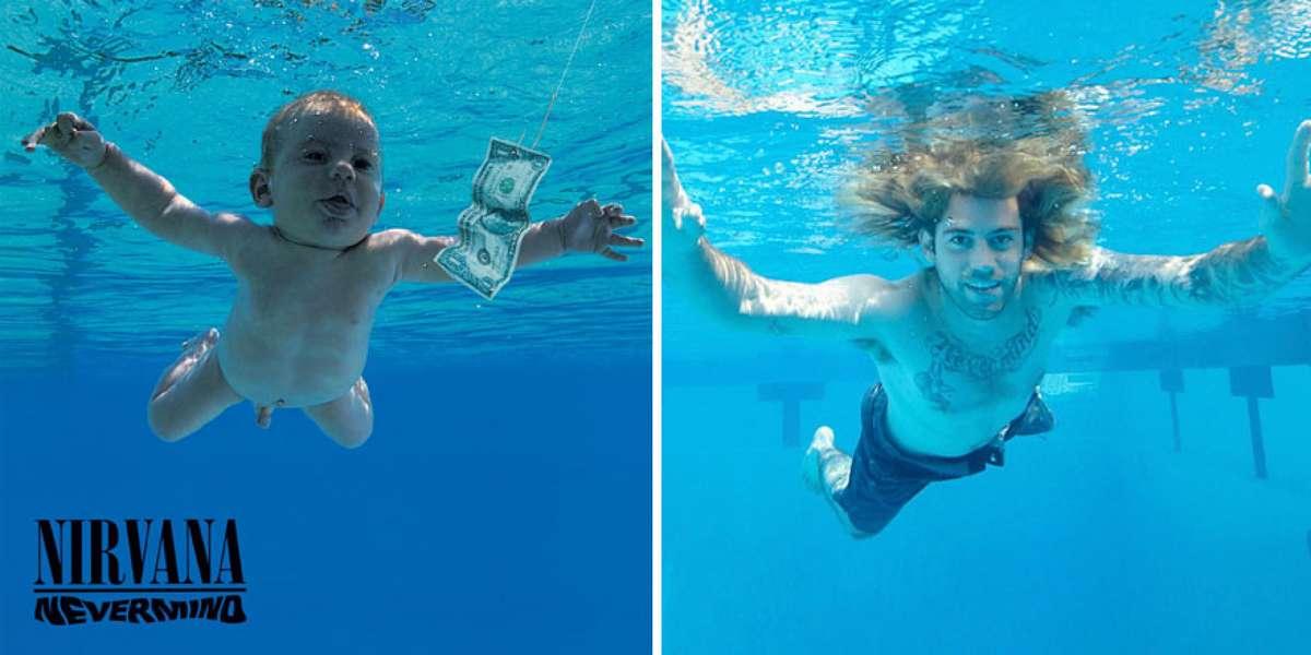 """Coperta albumului """"Nevermind"""" / Spencer Elden la 25 de ani, pozat de John Chapple"""