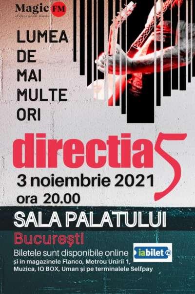 Poster eveniment Direcția 5: Lumea de mai multe ori