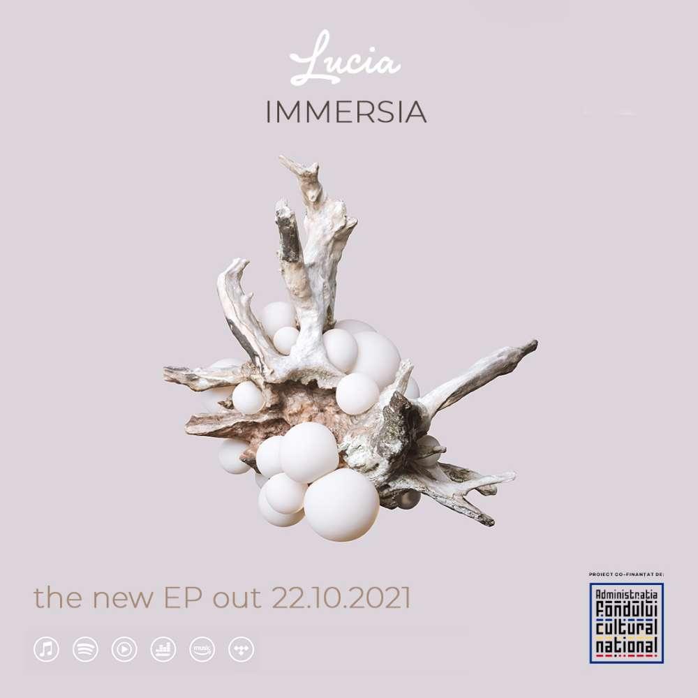 """""""Immersia"""" (coperta noului EP lansat de Lucia)"""